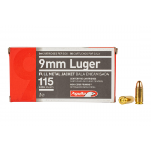 Aguila 9mm 115gr Full Metal Jacket - Box of 50