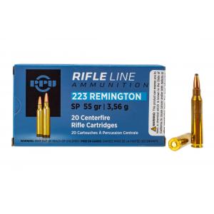 223 Remington 55gr Soft Point Ammo - Box of 20