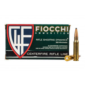308 Winchester 165gr Boat Tail Soft Point Ammo - Box of 20