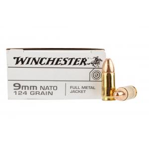 9mm Luger 124 gr Full Metal Jacket - Box of 50