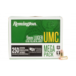 9mm Luger 115 Full Metal Jacket Ammo - Box of