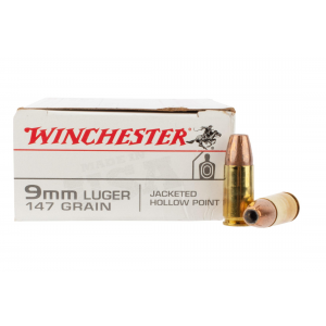 9mm Jacketed Hollow Point Ammo - Box of 50