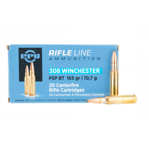 308 Winchester 165gr Soft Point Boat Tail Ammo - Box of 20