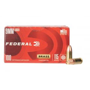 9mm 115gr Full Metal Jacket Ammo - Box of 100