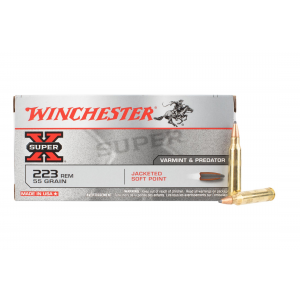 223 55gr Pointed Soft Point Ammo - Box of 20