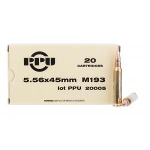 5.56 NATO 55gr Full Metal Jacket Ammo - Box of 20
