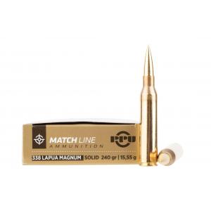 Prvi Partizan Match .338 Lapua Magnum Ammo 240Gr Solid Copper - 10 Rounds