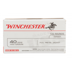 40 S&W 165gr Full Metal Jacket Ammo - Box of