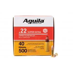 Aguila 22LR 40gr Copper Round Nose Ammo - Box of