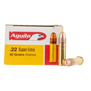 Aguila 22LR 40gr Copper Plated Round Nose Rimfire Ammo - Box of 50