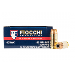 40 S&W 165gr Jacketed Point Ammo - Box of 50