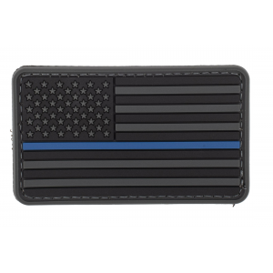 5ive Star Gear US Flag - Black with Blue Stripe Morale Patch