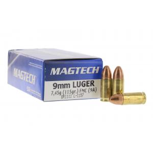 9mm Luger 115 gr FMJ - Box of 50