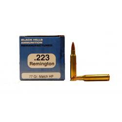 Black Hills 223 Remington 77gr Sierra MatchKing Re-Manufactured Ammunition 50rds - M223R9