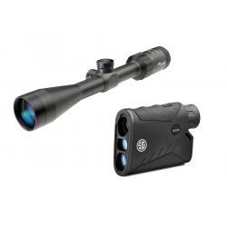 Sig Sauer Whiskey 3 3-9x40mm Quadplex Reticle Riflescope and Sig Kilo 1000 5x20mm Rangefinder
