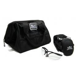 Walker's Ultra Slim Muff/Glasses Combo & PSA Small Range Bag w/ PSA Logo Moral Patch Bundle