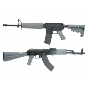 PSA Freedom AR-15, Gray & Blem PSAK-47 Liberty GB2, Gray Rifle Set With Matching Serial Numbers
