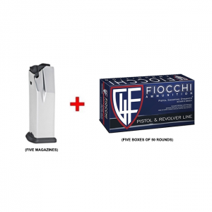 Five Springfield Armory .40 S&W 16 RD XD(M) Mags & 250 RDS Fiocchi .40 S&W CMJ Pistol Ammunition
