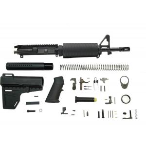 PSA 5.56 NATO 1/7 Nitride Classic Shockwave Pistol Kit, Black