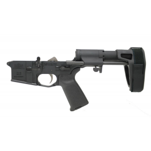 PSA AR-15 Complete MOE EPT Pistol Lower with SB Tactical PDW Pistol Brace, Black - 516446451
