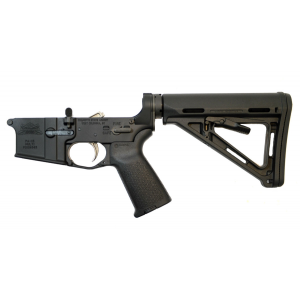 PSA AR-15 MOE Lower Receiver with Two-Stage Nickel Boron Trigger, Black - No Magazine
