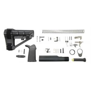 PSA SBA4 MOE Pistol Lower Build Kit, Black