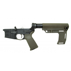 PSA AR15 Complete MFT Battlelink Lower, Olive Drab Green