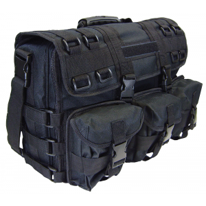 PS Products Peace Keeper Tactical Overnight Range Bag w/ Handgun Concealment, Black - SPOPCB