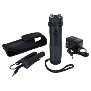 PS Products Zap Light 1 MV Extreme Stun Device Flashlight w/ Spike Electrodes, Black - ZAPLE