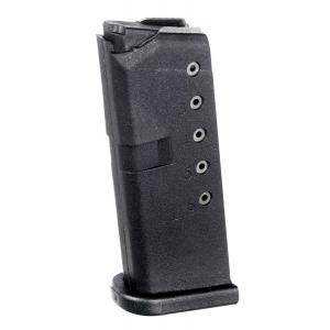 ProMag Round 9mm Glock 43 Magazine, Black -