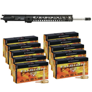 PSA 20″.224 Valkyrie 15″ M-LOK Upper with BCG & CH & 200 Rounds of Federal Fusion .224 Valkyrie 90gr Ammo