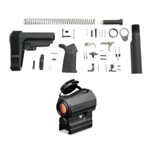 PSA SBA3 MOE EPT Pistol Lower Build Kit & Vortex SPARC AR 1x Red Dot Scope
