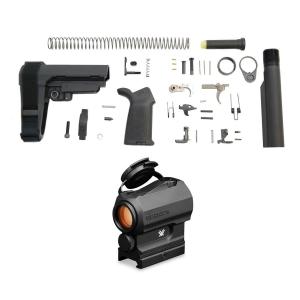 PSA SBA3 MOE EPT Pistol Lower Build Kit & Vortex SPARC AR 1x Red Dot Scope