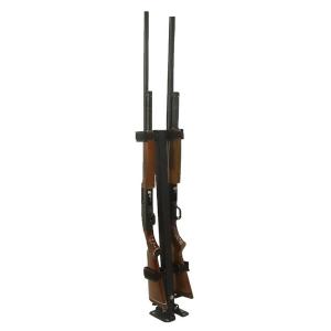Ranger Rugged Gear Black Metal Floor Mount 2-Gun Holder, Universal -