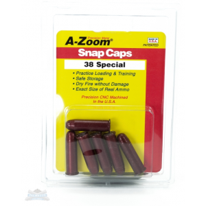 A-Zoom .38 SPC Snap Caps 6 Pack- 16118