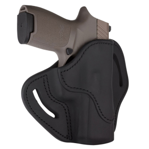 1791 Gunleather Optic Ready RH OWB Open Top Holster Size 2.4S, Black - OR-BH2.4S-SBL-R