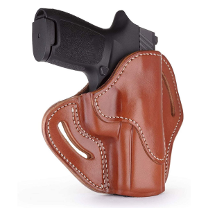 1791 Gunleather Optic Ready RH OWB Holster Compact Classic, Brown - OR-BH2.4S-CBR-R