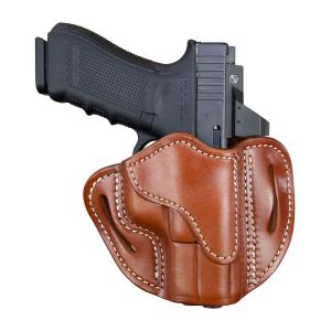 1791 Gunleather Glock 17 Optic Ready RH OWB Holster, Classic Leather - OR-BH2.1-CBR-R
