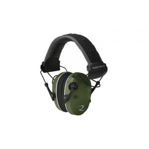 Radians R3400 Quad Mic NRR 24 Electronic Earmuff, Military Green - R3400EQCS