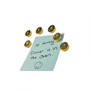 2 Monkey Trading Magnets 12 Gauge Brass , 5 Pack - LSM5-12B