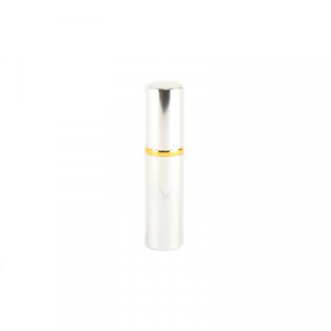 PS Products Hot Lips .75oz Pepper Spray, Lipstick Shaped Case, Silver - LSPS14-SLV