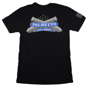 PSA Logo T Shirt - Flag Sleeve - Black