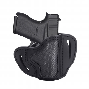 1791 Gunleather Right Hand Glock 43 OWB Open-Top Holster, Stealth Black -