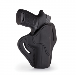 1791 Gunleather Right Hand Sig P320 OWB Open-Top Multi-Fit Holster, Stealth Black -