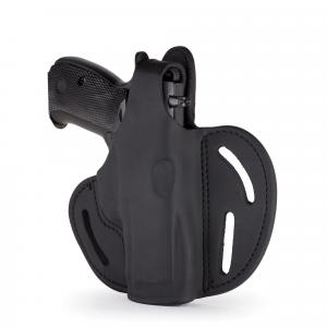 1791 Gunleather Right Hand Glock 17 OWB Thumbreak Holster, Stealth Black -