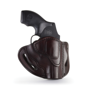 1791 Gunleather RVH1 Right Hand Ruger LCR OWB Holster, Signature Brown - RVH-1-SBR-R