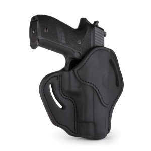 1791 Gunleather Right Hand Glock 17 OWB Open-Top Multi-Fit Holster, Stealth Black -
