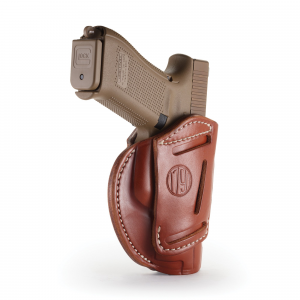 1791 Gunleather 3WH-3 Ambidextrous Glock 26 OWB Open-Top Concealment 3-Way Holster, -