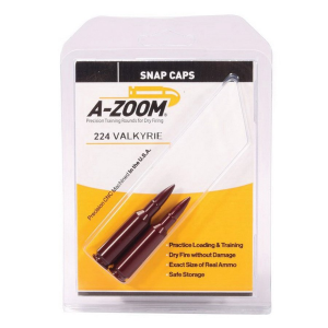 A-Zoom Aluminum Snap Cap, .224 Valkyrie, 2/pack - 12401