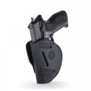 1791 Gunleather Ambidextrous Glock OWB Open-Top Concealment 3-Way Holster, Stealth Black -